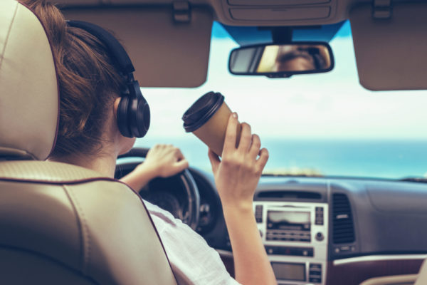 driving with headphones